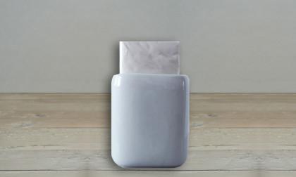 Tissuehouder wit porselein