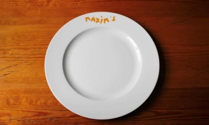 Bord Maxim restaurant rand bedrukking onder glazuur